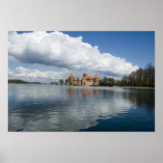 Lithuania, Trakai. Island Castle Poster