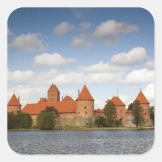 Lithuania, Trakai, Trakai Historical National 2 Square Sticker