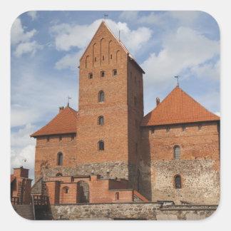 Lithuania, Trakai, Trakai Historical National 3 Square Sticker
