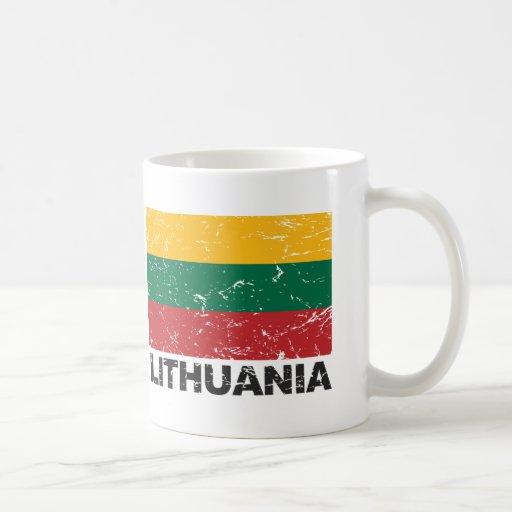 Lithuania Vintage Flag Classic White Coffee Mug