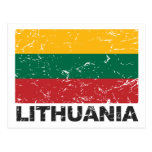 Lithuania Vintage Flag Post Cards