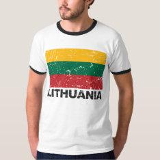 Lithuania Vintage Flag T-shirt at Zazzle