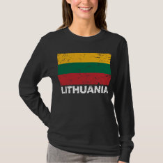 Lithuania Vintage Flag T-shirt at Zazzle