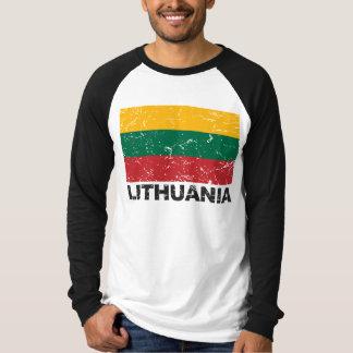 Lithuania Vintage Flag Tee Shirt
