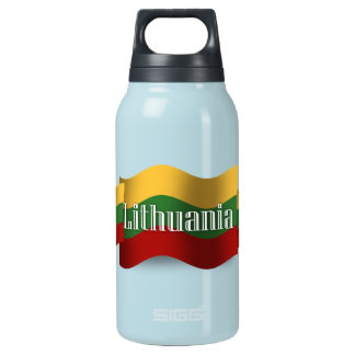 Lithuania Waving Flag Insulated Water Bottle