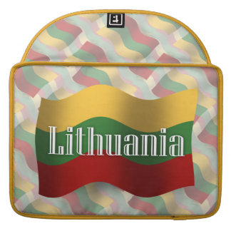 Lithuania Waving Flag Sleeves For MacBook Pro