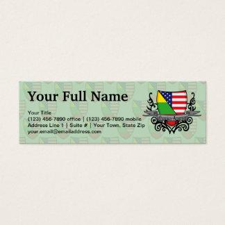 Lithuanian-American Shield Flag Mini Business Card
