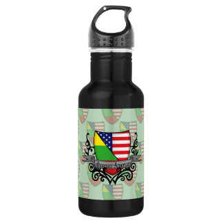 Lithuanian-American Shield Flag Stainless Steel Water Bottle