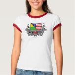 Lithuanian-American Shield Flag Tee Shirt