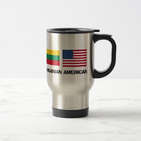 Lithuanian American Travel Mug