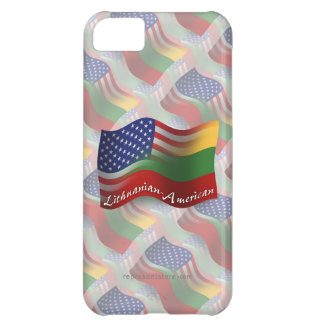 Lithuanian-American Waving Flag Case For iPhone 5C