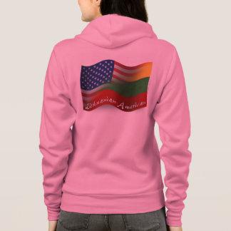 Lithuanian-American Waving Flag Hoodie