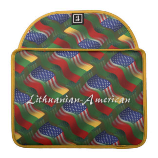 Lithuanian-American Waving Flag Sleeve For MacBook Pro