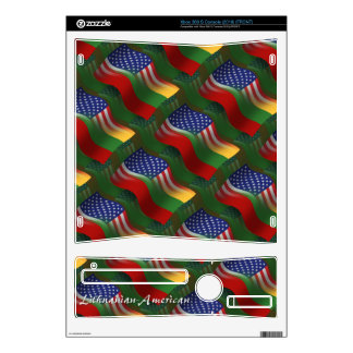 Lithuanian-American Waving Flag Decal For The Xbox 360 S