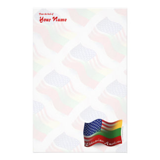 Lithuanian-American Waving Flag Stationery