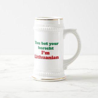 Lithuanian Borscht Beer Stein