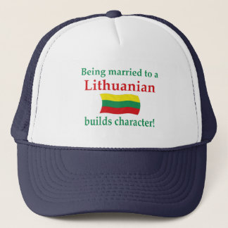 Lithuanian Builds Character Trucker Hat
