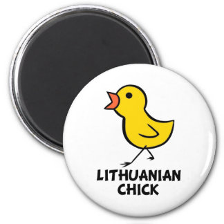 Lithuanian Chick 2 Inch Round Magnet