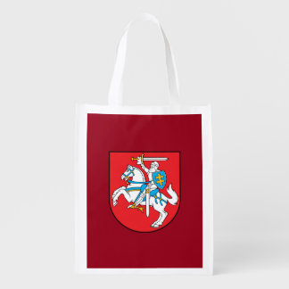 Lithuanian coat of arms reusable grocery bag