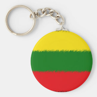 Lithuanian Flag Basic Round Button Keychain
