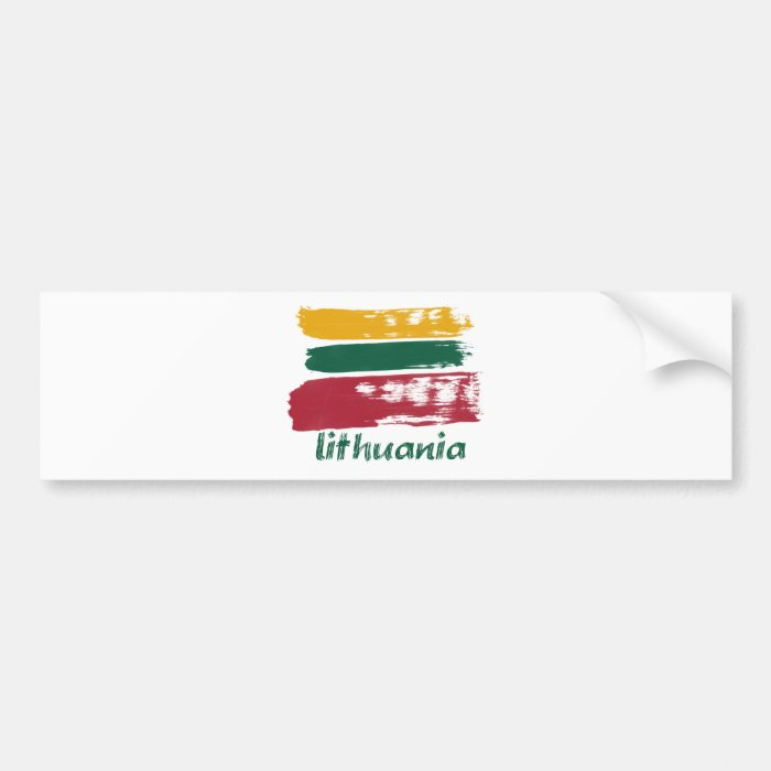 Lithuanian flag designs bumper sticker