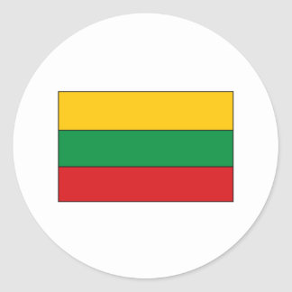 Lithuanian Flag T-shirts and Gifts Round Stickers