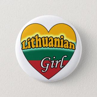 Lithuanian Girl Pinback Button