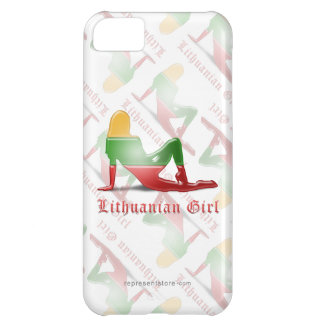 Lithuanian Girl Silhouette Flag Case For iPhone 5C