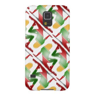 Lithuanian Girl Silhouette Flag Galaxy S5 Cover