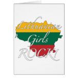 Lithuanian Girls Rock! Greeting Cards