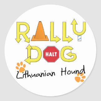 Lithuanian Hound Rally Dog Classic Round Sticker
