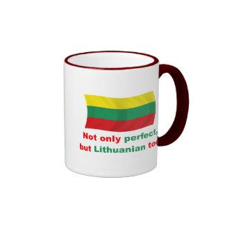Lithuanian perfecto taza de dos colores