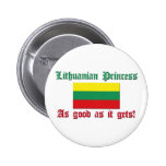 Lithuanian Princess - Good As 2 Inch Round Button