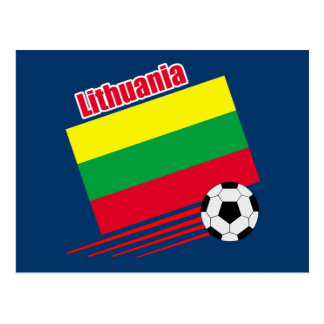 Lithuanian Soccer Team Postcard