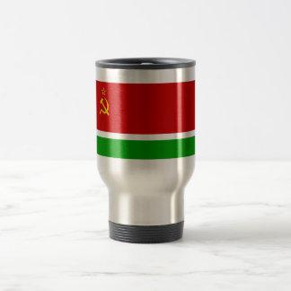 Lithuanian SSR Flag 15 Oz Stainless Steel Travel Mug