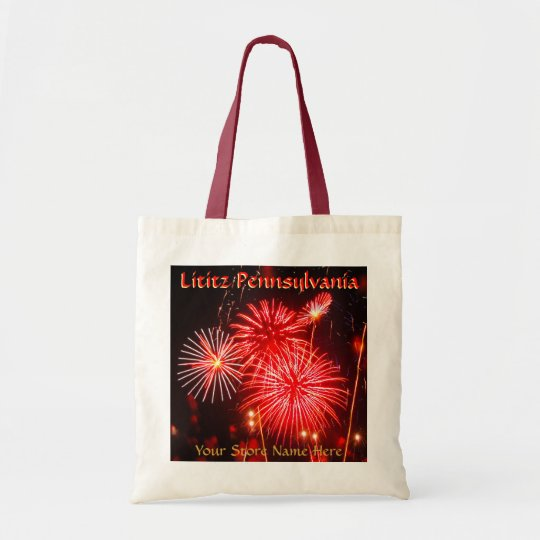 Lititz 4th of July Fireworks Tote! Add Store Name Tote Bag
