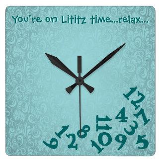 Lititz Amish Wall Clock. RELAX. Lancaster Pa. Square Wall Clock