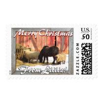 Lititz Christmas! Farm Horses and Sheep! Postage
