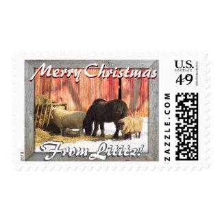 Lititz Christmas! Farm Horses and Sheep! Postage Stamp