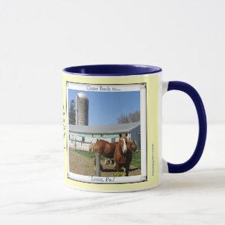 Lititz Pa. Visit! Horses! Amish Proverb Mug