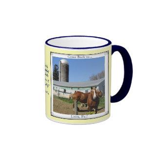 Lititz Pa. Visit! Horses! Amish Proverb Ringer Mug