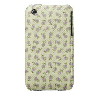 Litl Purple Flowers Case-Mate iPhone 3 Case