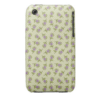 Litl Purple Flowers iPhone 3 Cover
