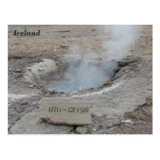 Litli Geyser, Iceland. Postcard