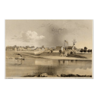 Litografía 1859 de Fort Smith Arkansas Posters