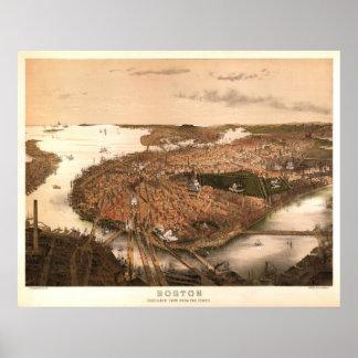 Litografía 1877 de la reproducción de Boston Póster