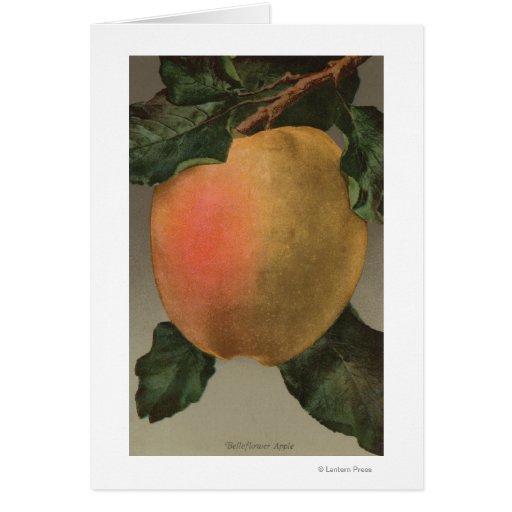 Litografía de Chromo de la fruta de Belleflower Ap Tarjeton