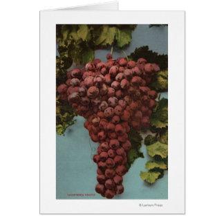 Litografía de Chromo de la fruta de las uvas de Ca Tarjeta De Felicitación