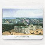 Litografía de color 1852 - vista de Washington Alfombrilla De Ratones