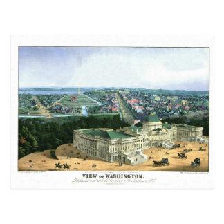 Litografía de color 1852 - vista de Washington Tarjetas Postales